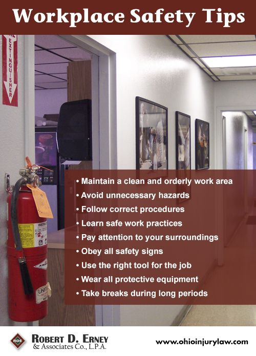 Workplace #safety #tips!  All general stuff, could create our own version with a photo of the Woodshop and hang it up somewhere...