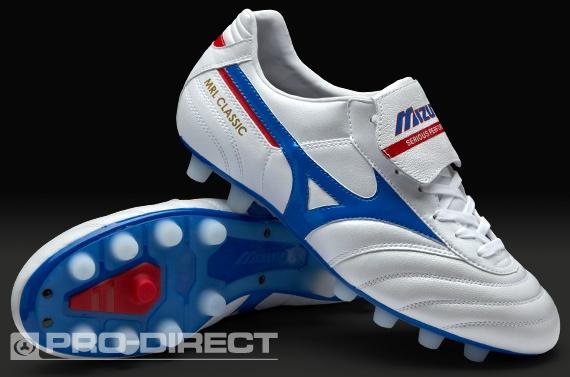 Mizuno Morelia Classic FG Boots - Pearl/Blue/Red
