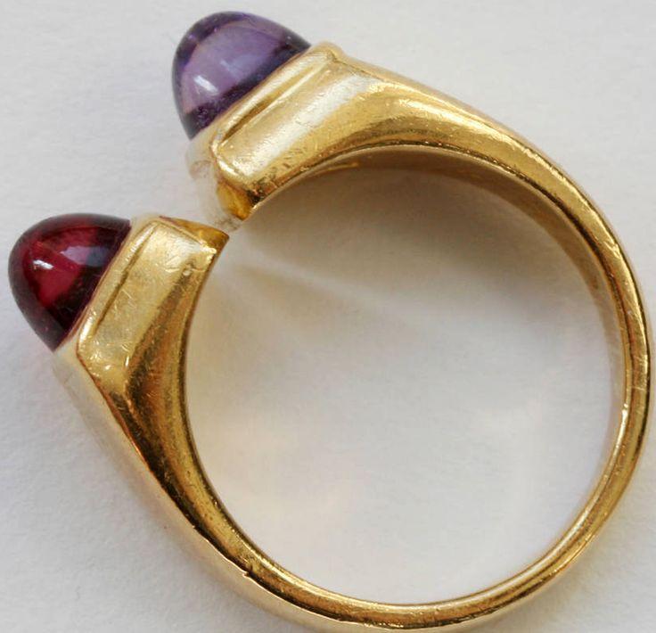 bulgari moi et toi amethyst tourmaline gold ring 3 with chrysprase