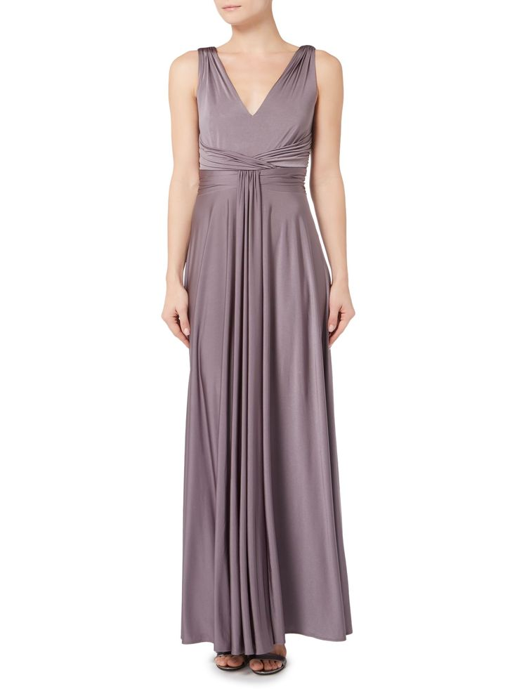 Biba Ruched Front Full Skirted Maxi Event Dress - House of Fraser