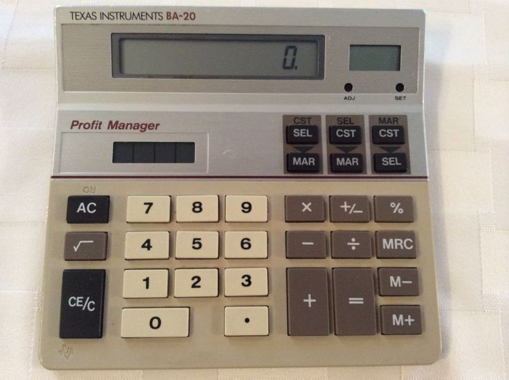 texas instruments ba 20 profit manager calculator manual