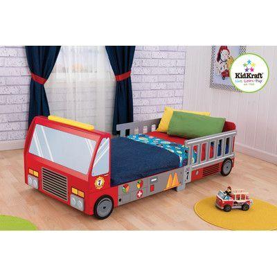 KidKraft Firefighter Toddler Car Bed