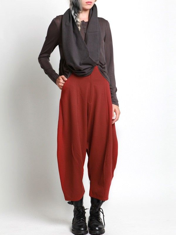 KNIT LOW-CROTCH TROUSERS - JACKETS, JUMPSUITS, DRESSES, TROUSERS, SKIRTS, JERSEY, KNITWEAR, ACCESORIES - Woman -