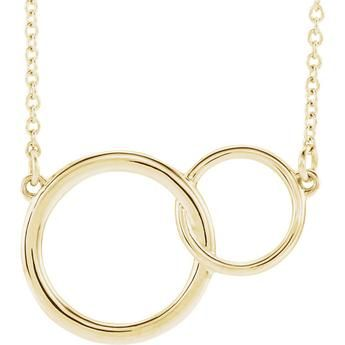 14K Yellow Gold Interlocking Circle Necklace
