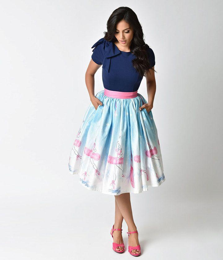 Unique Vintage Micheline Pitt For 1950s Style Vintage Ballerina Skirt