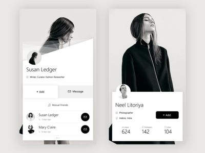 Dribbble - User+Another User Profile by Prakhar Neel Sharma