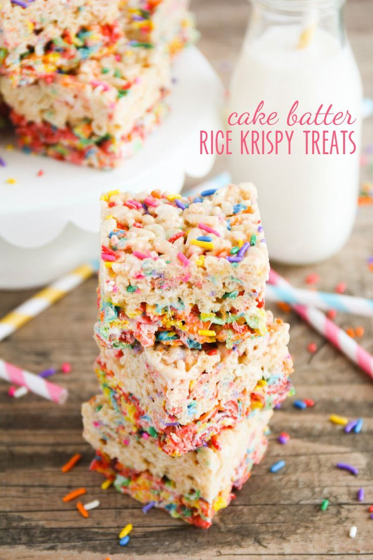 The BEST Rice Krispy Treat - a fantastic combination between rice krispy treats,  cake batter, and fruity pebbles cereal, this is the perfect salty-sweet treat destined to be your new favorite snack!