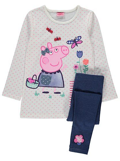 Peppa Pig Top and Legging Set, read reviews and buy online at George. Shop from our latest range in Kids. Make their day to day outfits a must-have with this...