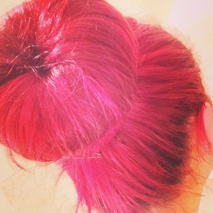 Updo, doughnut :) red hair