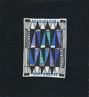 """Broderi """"Applikation"""" design Ingrid Skerfe-Nilsson, 1955."""