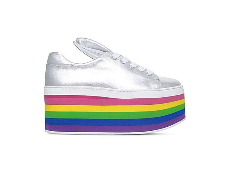 MINNA PARIKKA Over the Rainbow leather flatform trainers