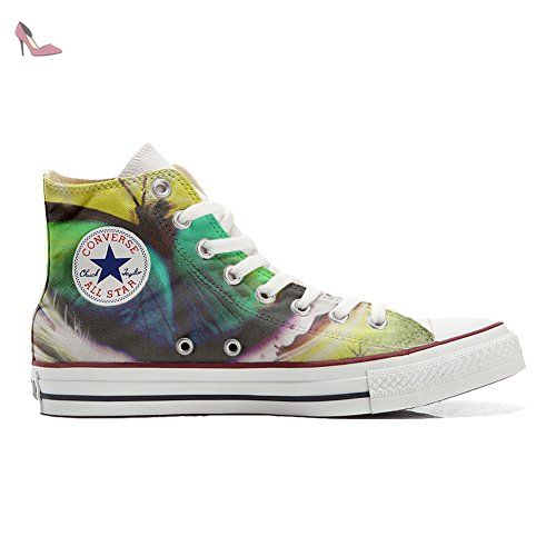 Converse All Star unisex hand printed Italian style Mariposa