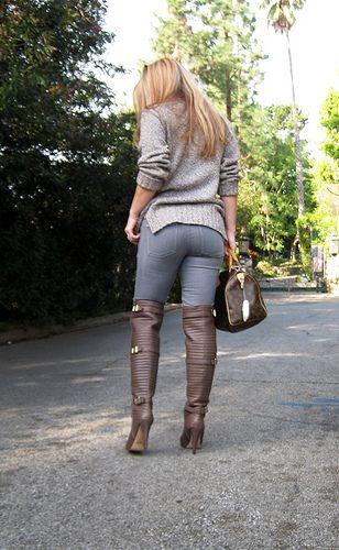 Big butt jeans tight