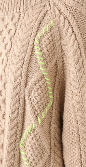 Upcycling | Adding your own detail to an old or plain cable knit sweater