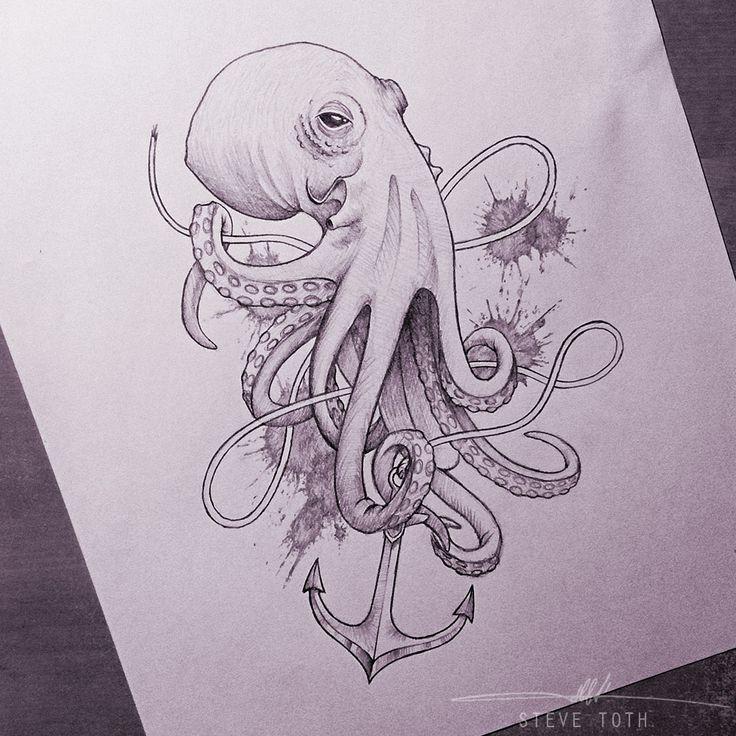 """""""Octopus Sketch"""" by Steve Toth."""