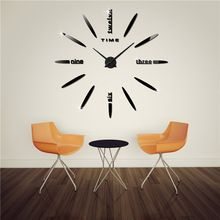 2016 forró eladó falióra 3D nagy dekoratív falióra karóra lakberendezés diy clock Mirror nappali reloj falfestmény fali matrica (Kína (szárazföld))