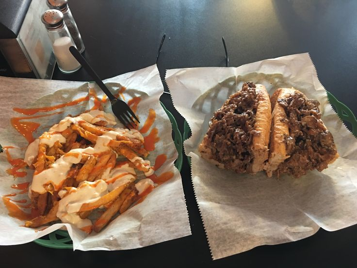[I ATE] A Philly Cheese Steak with Buffalo Fries