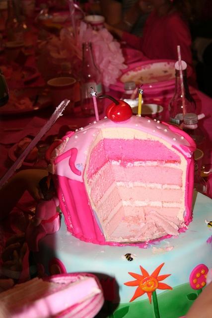 Pinkalicious Party --cupcake/cake pink layers