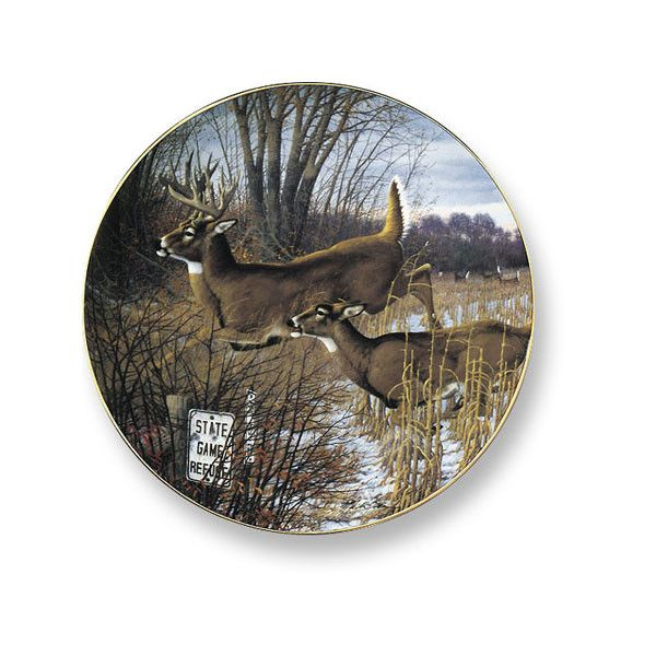 Wild Wings Find A Refuge Deer Decorative Plate