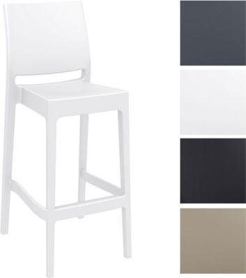 Barhocker MAYA, stapelbar, Sitzhöhe 75 cm, Kunststoff Tresenhocker mit Rückenlehne, Outdoor-Thekenhocker, Bistro-Stuhl für Innen- / Außen-Bereich Jetzt bestellen unter: https://moebel.ladendirekt.de/garten/gartenmoebel/gartenstuehle/?uid=71a5983f-725e-5618-992c-fcf8c92c5e9d&utm_source=pinterest&utm_medium=pin&utm_campaign=boards #stehtische #garten #gartenmoebel #gartenstuehle