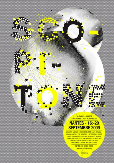 Poster: bits and points, Scopitone  shebeingbrand:    (via typo jungle)