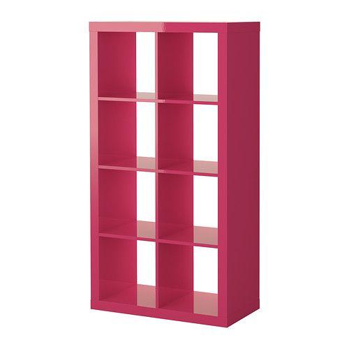 EXPEDIT Open kast IKEA De lak reflecteert het licht en geeft het meubel een levendige uitstraling.