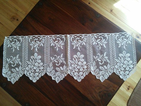 2 x Curtain Pelmet Valance Lace French by FromParisToProvence