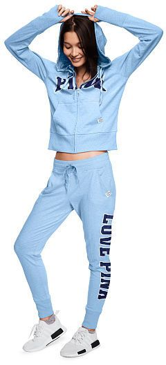 Pink Skinny Jogger in blue