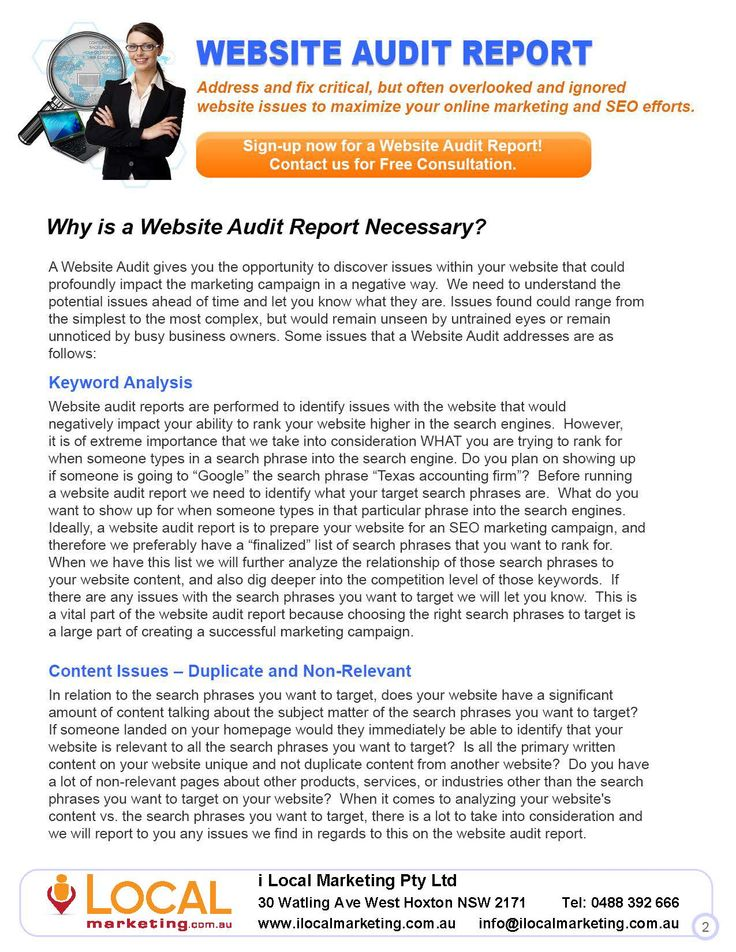 Why is a Website Audit Report Necessary?