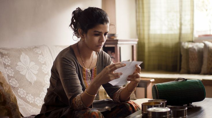 The Lunchbox:  Ila (Nimrat Kaur) is a Mumbai housewife who accidentally begins a correspondence with another man when the lunch she packs for her own husband goes astray.