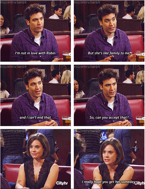 Ted's love & loyalty to Robin <3