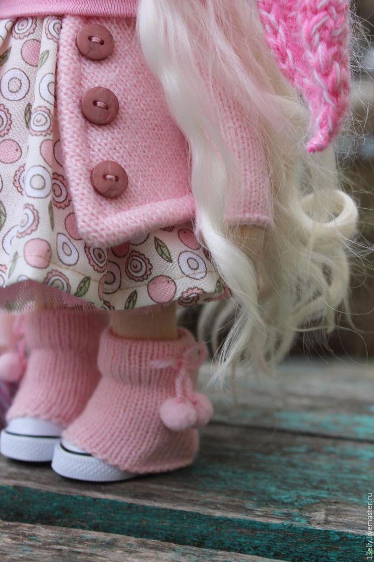 Коллекционные куклы ручной работы. Заказать Мамина зайка!. Елена. Ярмарка Мастеров. Розовый, авторская кукла, украсить интерьер, шерсть