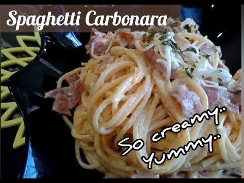 Spaghetti Carbonara Tanpa Cooking Cream Youtube Di 2020 Memasak Makanan Spaghetti
