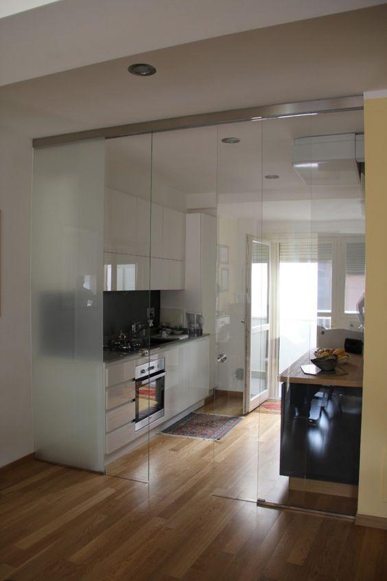 Oltre 25 fantastiche idee su porte interne su pinterest porta interni e porte bianche - Vetrate divisorie cucina soggiorno ...