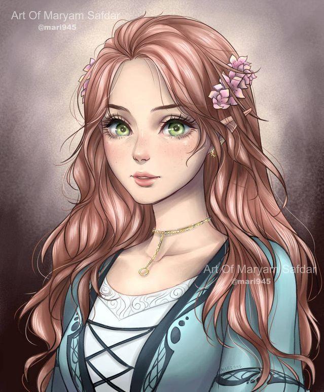 Pin By F Gallery On Girls Art Disney Princess Anime Anime Princess Anime Art Girl