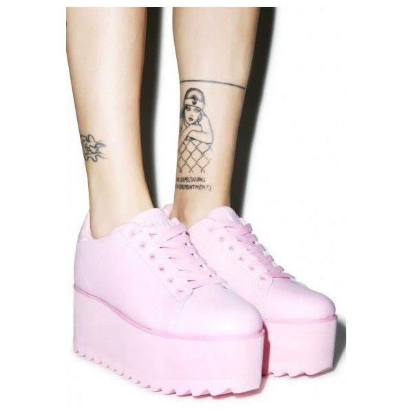 Platforms   Dolls Kill ❤ liked on Polyvore featuring shoes, black shoes, checkered shoes, pink platform shoes, black platform shoes and black pink shoes