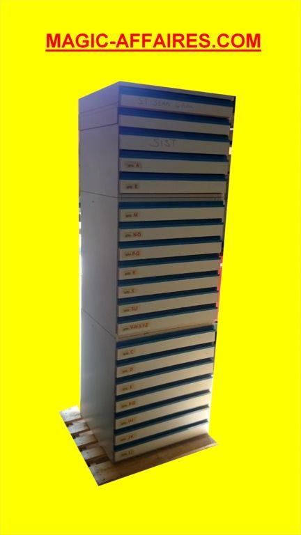 Meubles à dessin plan 19 tiroirs A3 A4 empillable sur roues PROFESSIONNEL - AGENCEMENT MAGASIN COMMERCE BOUTIQUE MATERIEL RESTAURATION BUREAU/AGENCEMENT BUREAU - magic-affaires-22