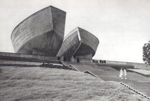 The futuristic brutalist pods of the Slovak Monument.Photo by Karel Plicka, taken in the (then) Socialist State of Czechoslovakia (C.S.S.R.). -Emma