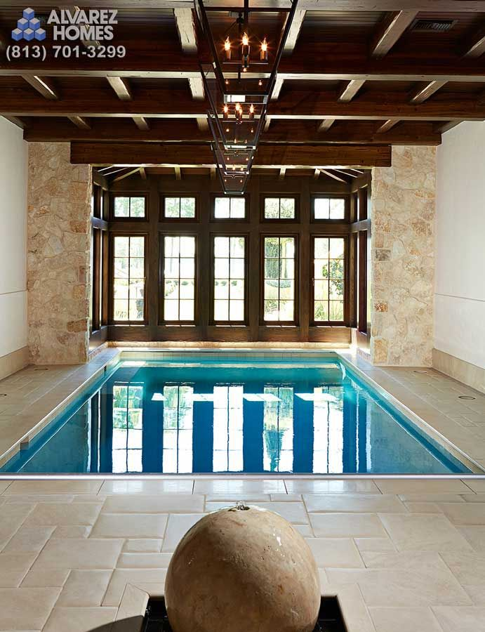 custom indoor pools. cheap indoor pool with sculpted gunite wall