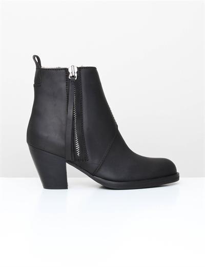 Acne Pistol Boot- Fur Black