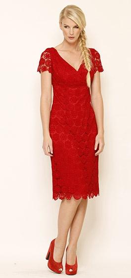 Glass Slipper Dress in Red  Winter 2012