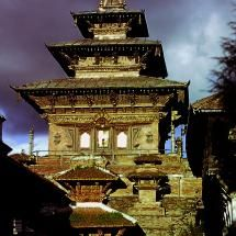 The great Pagoda temple of Taleju Bhavani in Kathmandu,Nepal 1973