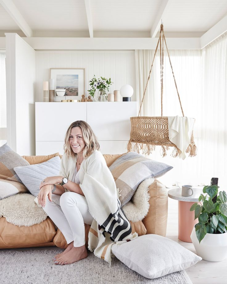 Melbourne based designer and stylist, Simone Haag, shows us how she styles her own space. #countryroadstyle #CR_livewithus