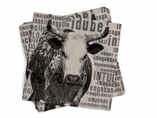 The perfect Nguni Cow serviettes for the shebeen party - R15.99 at Mr Price Home