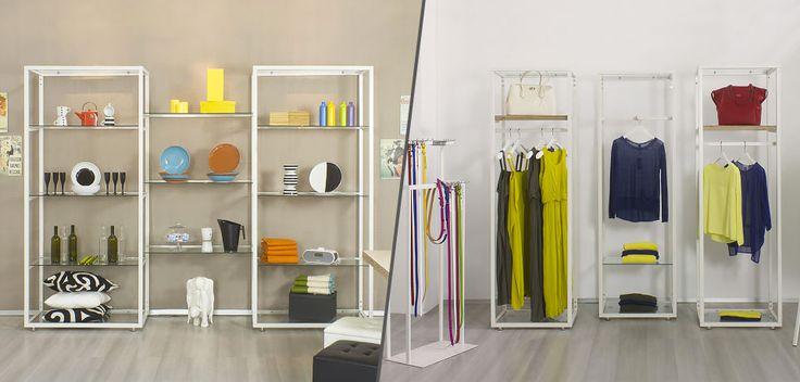 Alcuni esempi di Espositori per negozi di arredamento e casalinghi proposti da Spettacolo.com. Ottimo rapporto qualità prezzo