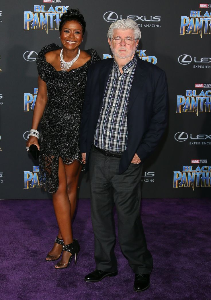 HOLLYWOOD, CA - JANUARY 29: Mellody Hobson and George Lucas attend the premiere of Disney and Marvel's 'Black Panther' on January 28, 2018 in Los Angeles, California.   (Photo by JB Lacroix/WireImage) via @AOL_Lifestyle Read more: https://www.aol.com/article/entertainment/2018/02/27/a-wrinkle-in-time-reese-witherspoon-oprah-storm-reid-and-more-stars-dazzle-at-magical-la-premiere/23372163/?a_dgi=aolshare_pinterest#fullscreen
