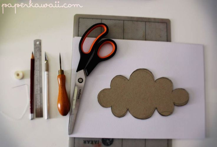 Learn how to make these beautiful 3 dimensional clouds! Follow these simple photo step by step instructions, they look so cute!!! :D