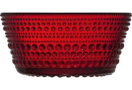 Iittala Kastehelmi kulho 23 cm, karpalo
