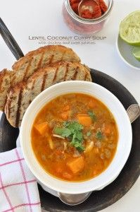 from The Harvest Kitchen / this Lentil Coconut Curry Soup has an incredible intoxicating combo of flavors @theharvestkitchen.com