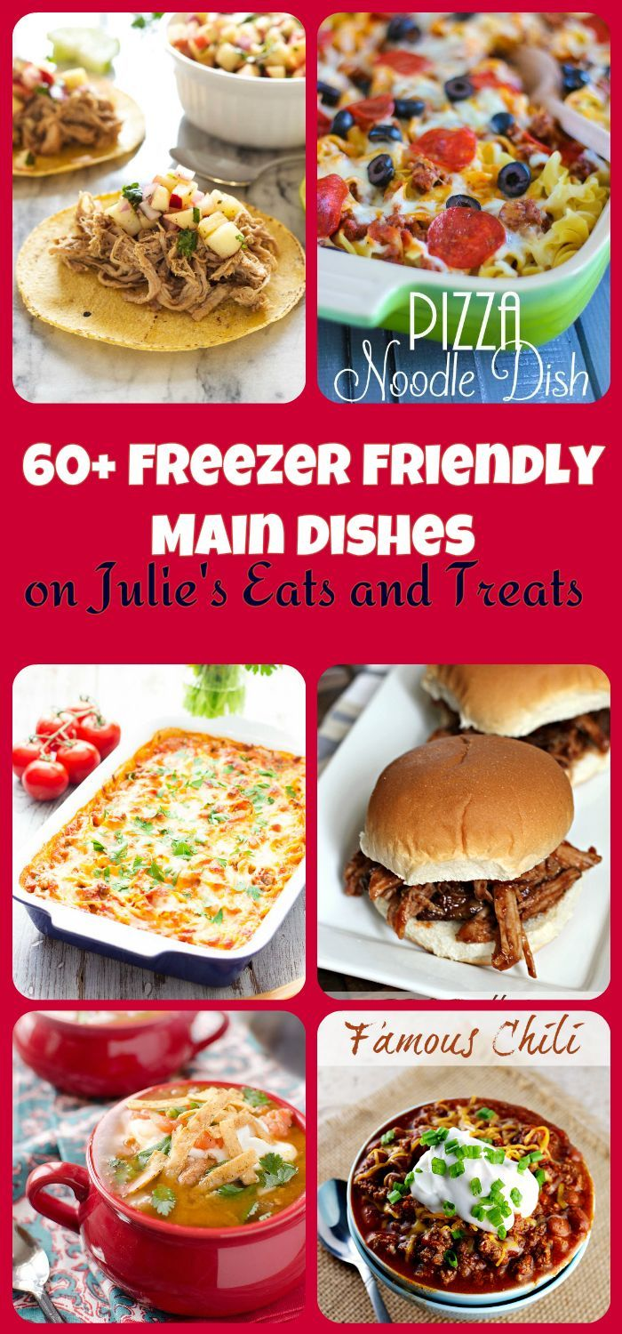 60+ Fantastic Freezer Friendly Meals for those busy night and mornings when you don't have time to make a meal! ~ http://www.julieseatsandtreats.com